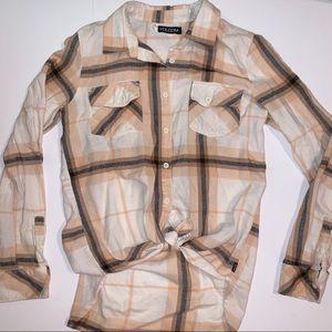 Volcom Plaid Flannel Button Down Shirt, XS